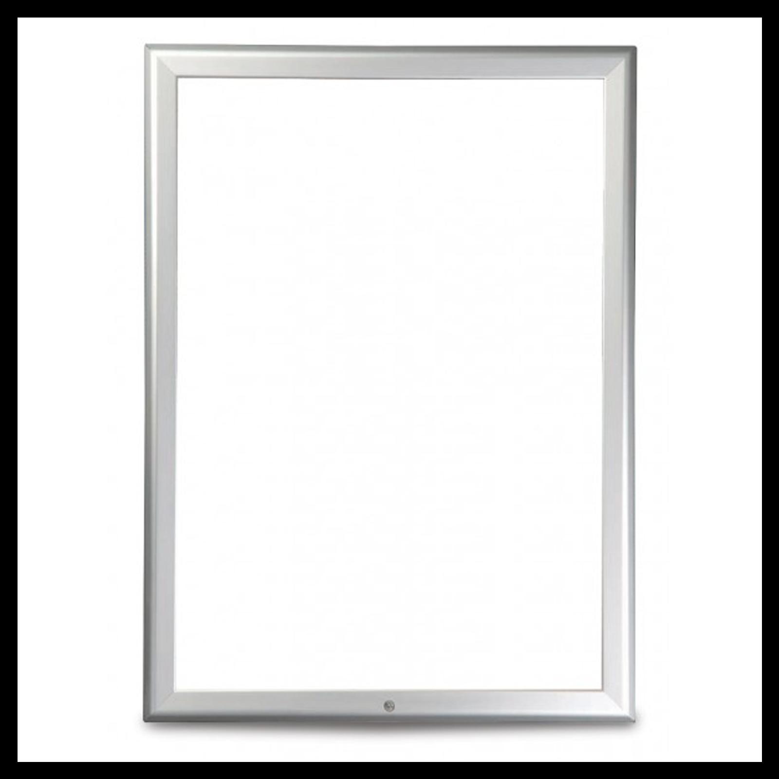 Silver 32mm Lockable Poster Display Snap Frames