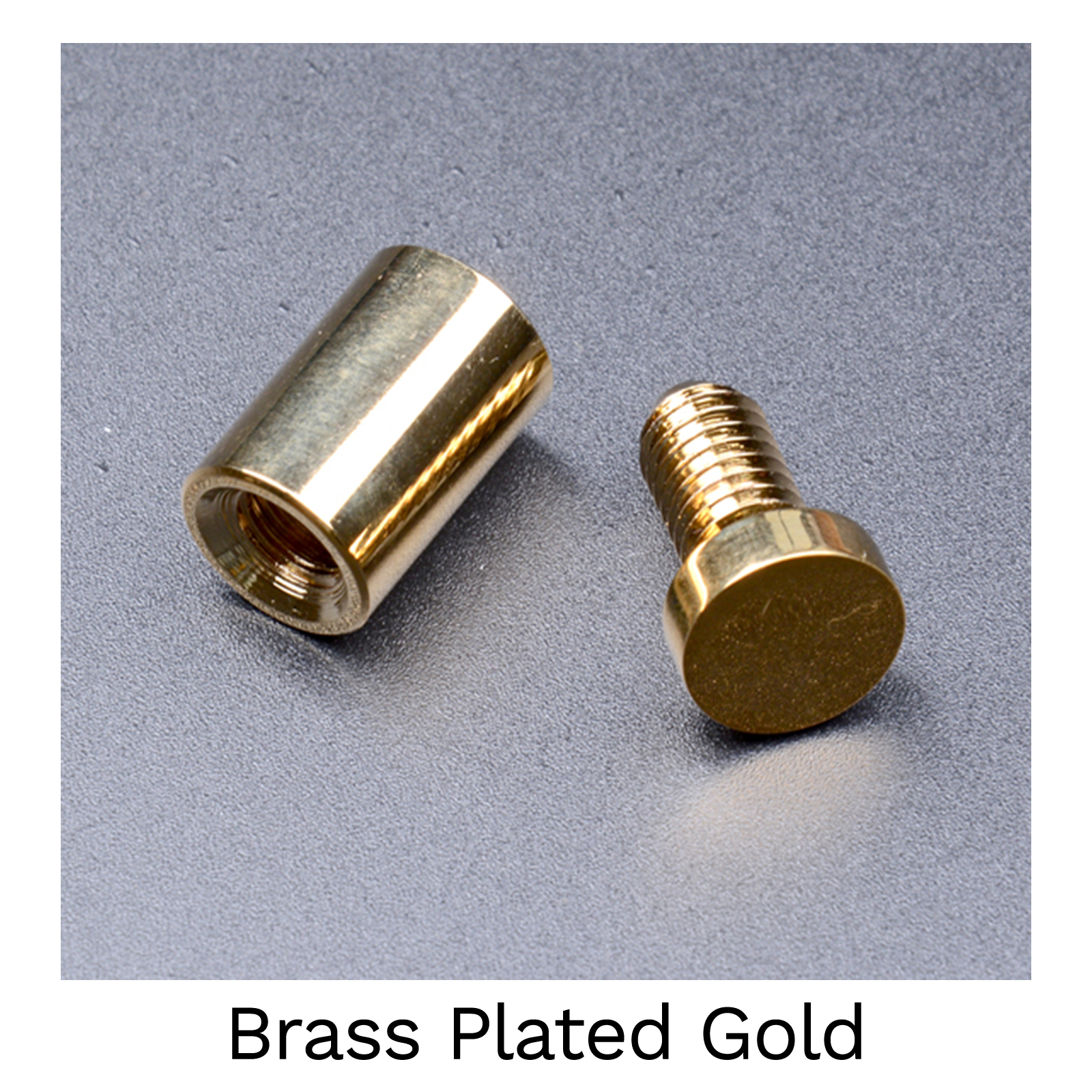 Brass Plated Gold - 19mm Stand Off Wall Fixings - Pack of 4