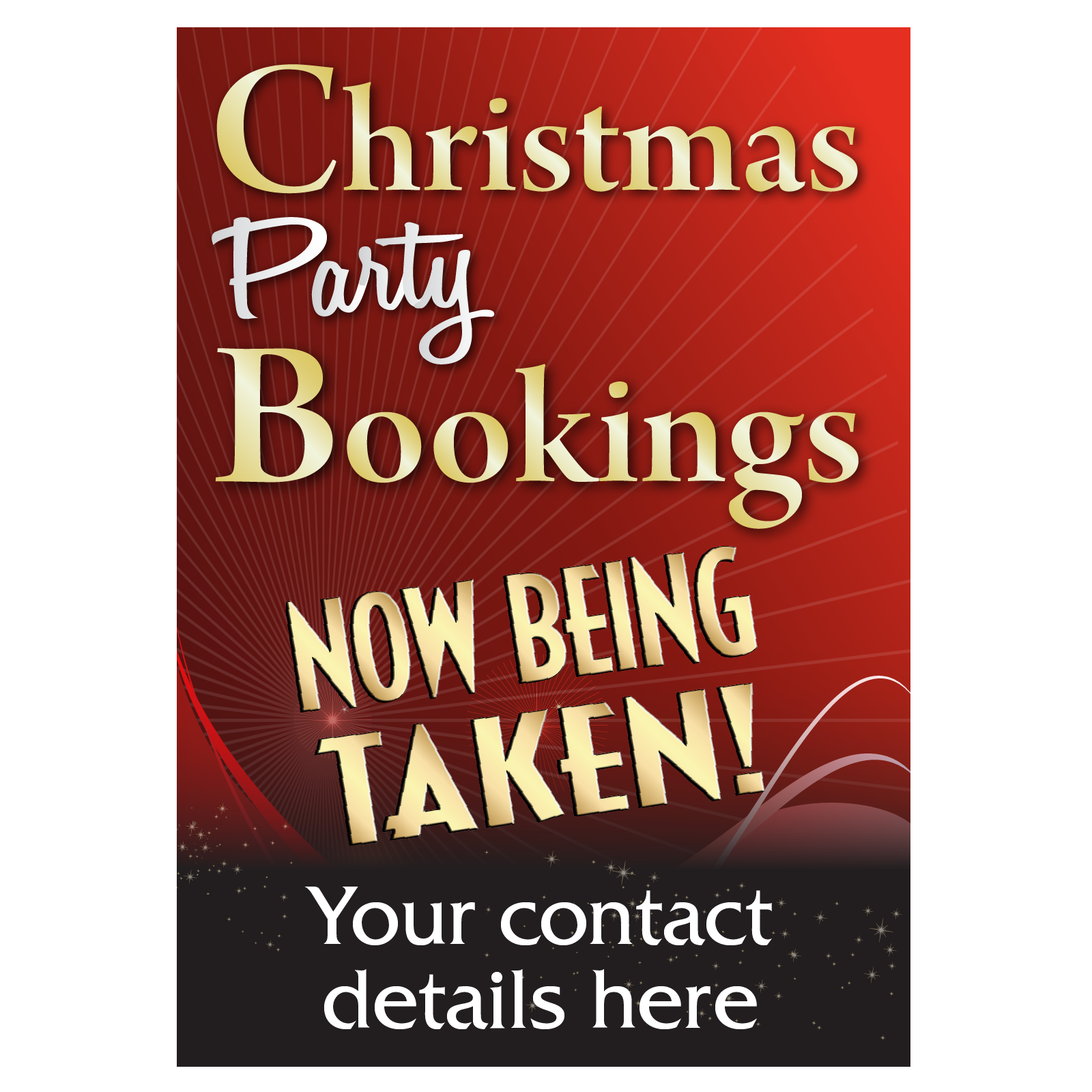 Taking Bookings Now Christmas Poster