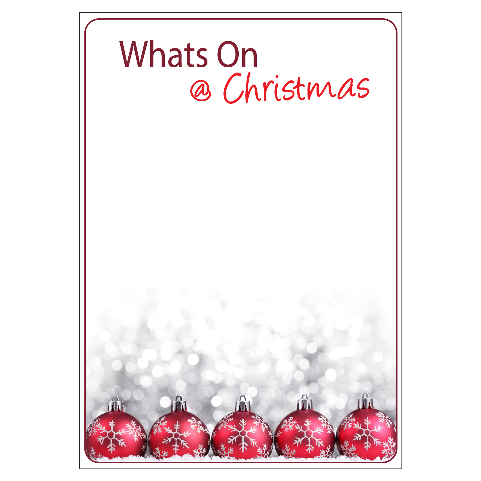 Writeable Christmas Poster
