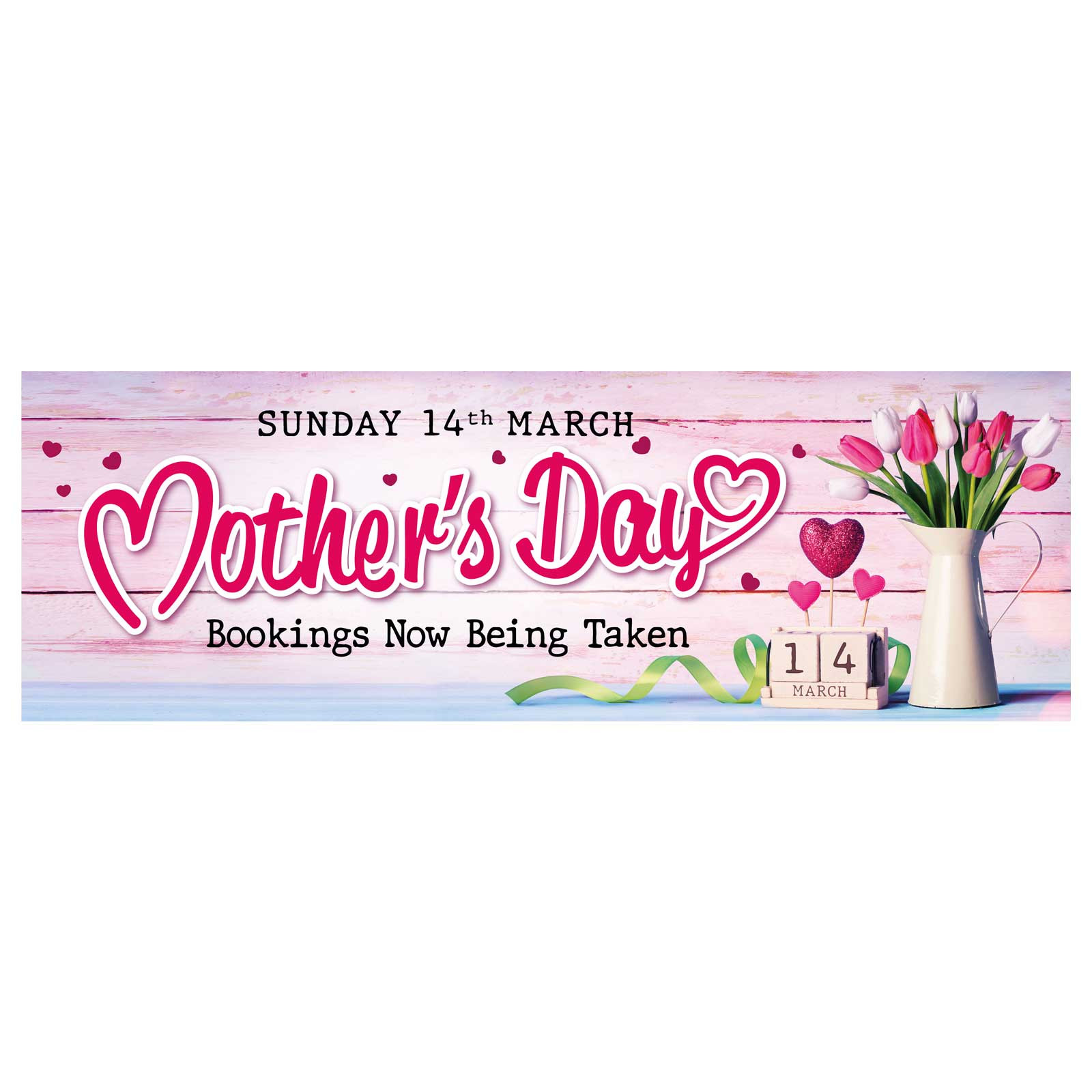 Mothers Day Bookings Now Being Taken Banner