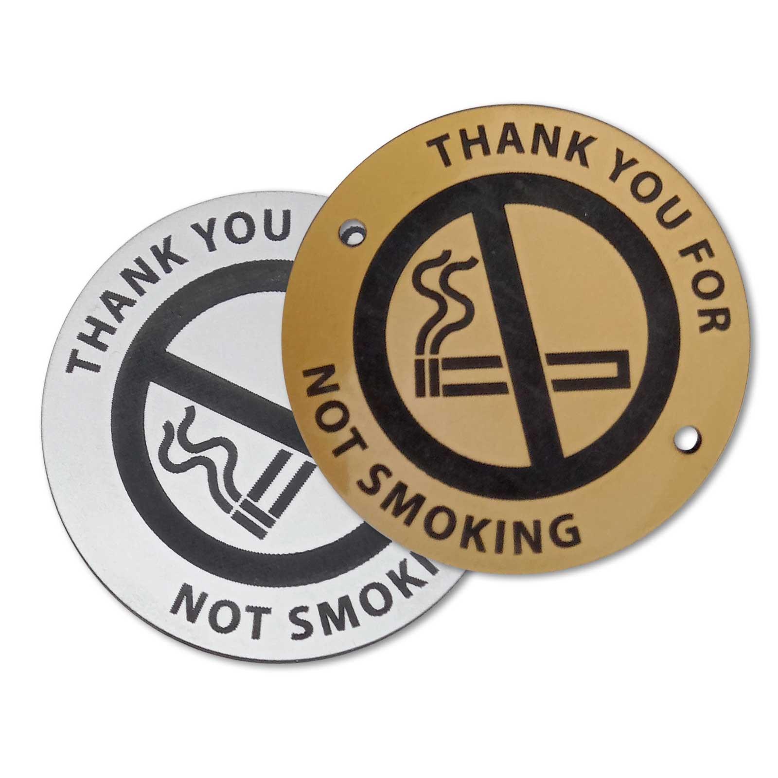No Smoking Outdoor Table Disc