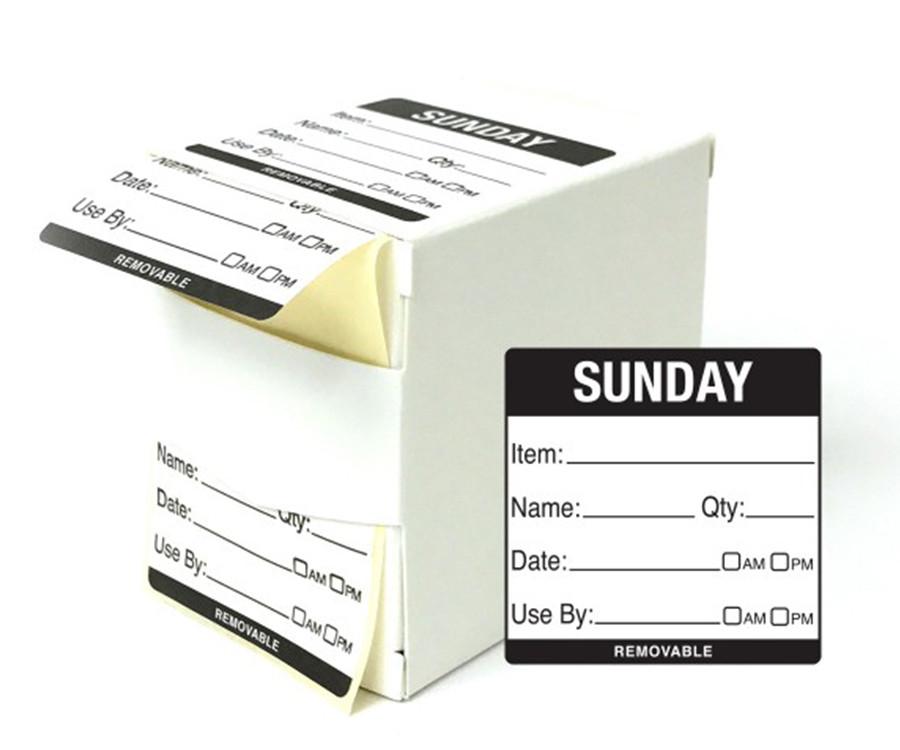Sunday Food Labels