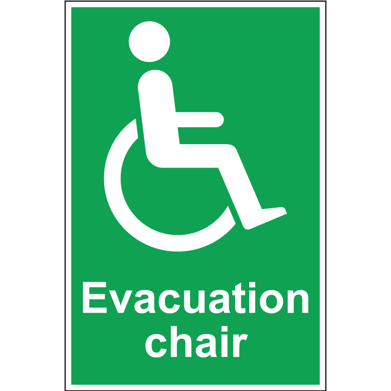 Evacuation Chair Sign