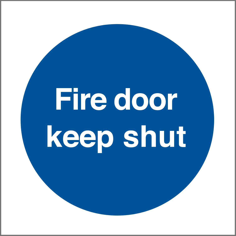 Fire Door Keep Shut Sticker