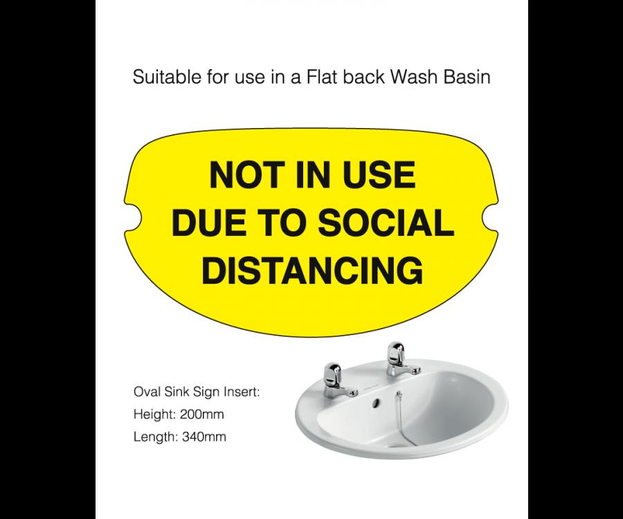 Flat Back Social Distancing Washroom Sink Cover