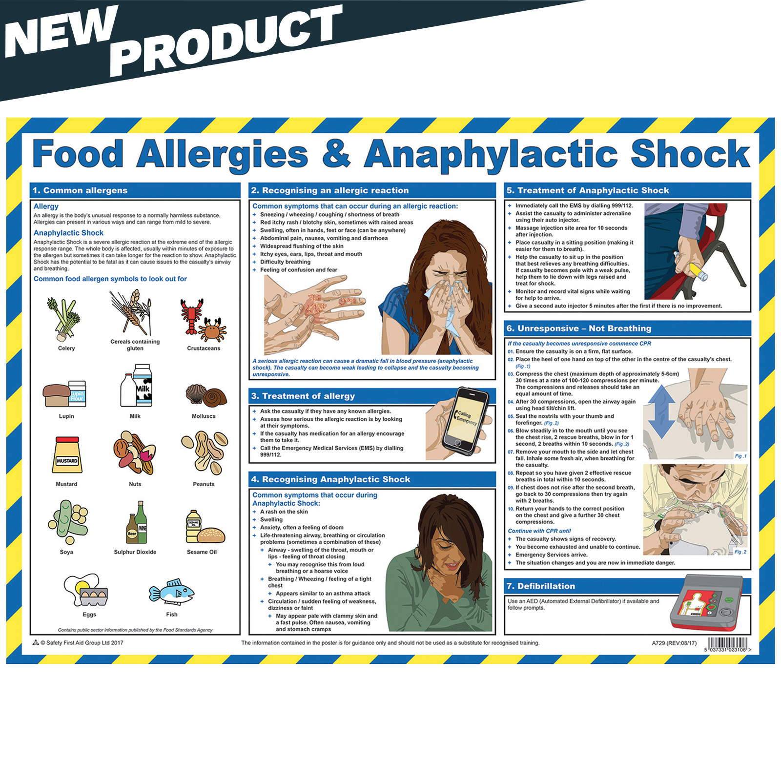 Food Allergies & Anaphylactic Shock Poster