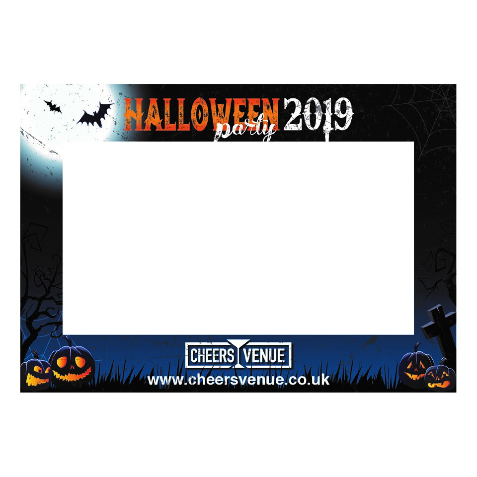 Halloween Party Photo Booth Selfie Frame. A2 Landscape size