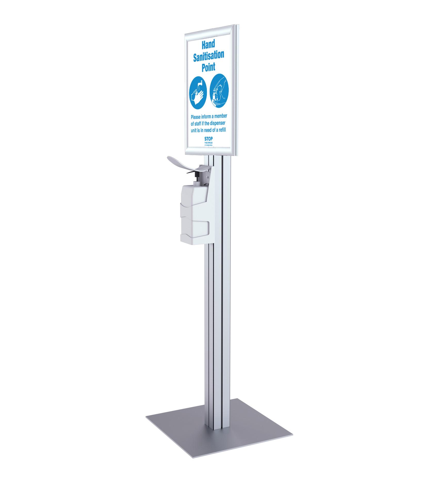 Freestanding Sanitiser Dispenser – A3 Snap Frame