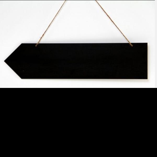 Hanging HPL Chalkboard Arrow Sign