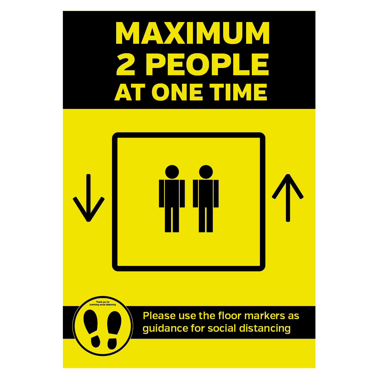 Maximum 2 People Allowed In The Lift At One Time Social