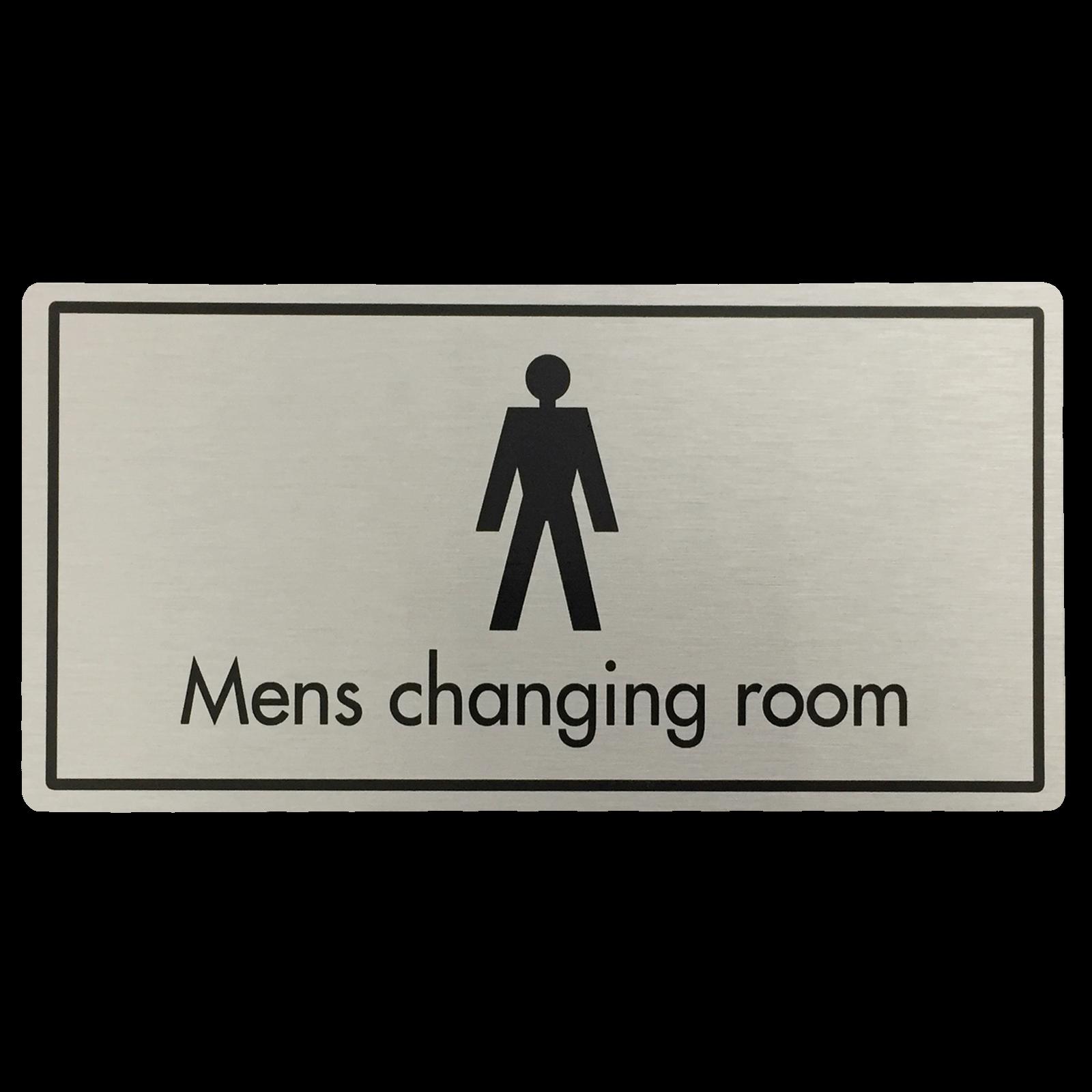 Mens Changing Room Door Sign