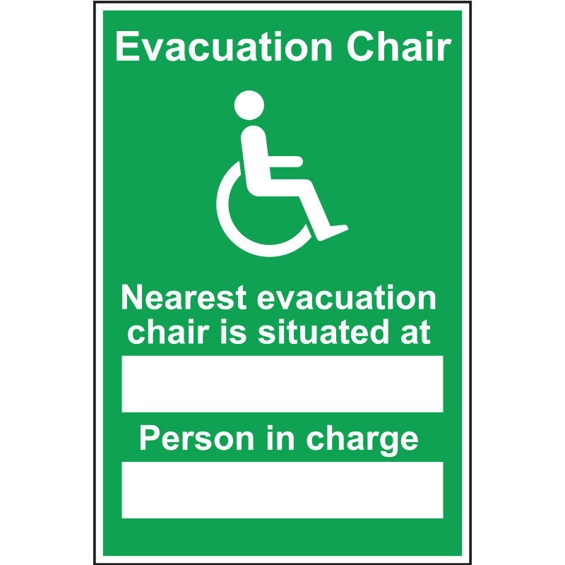 Nearest Evacuation Chair Sign