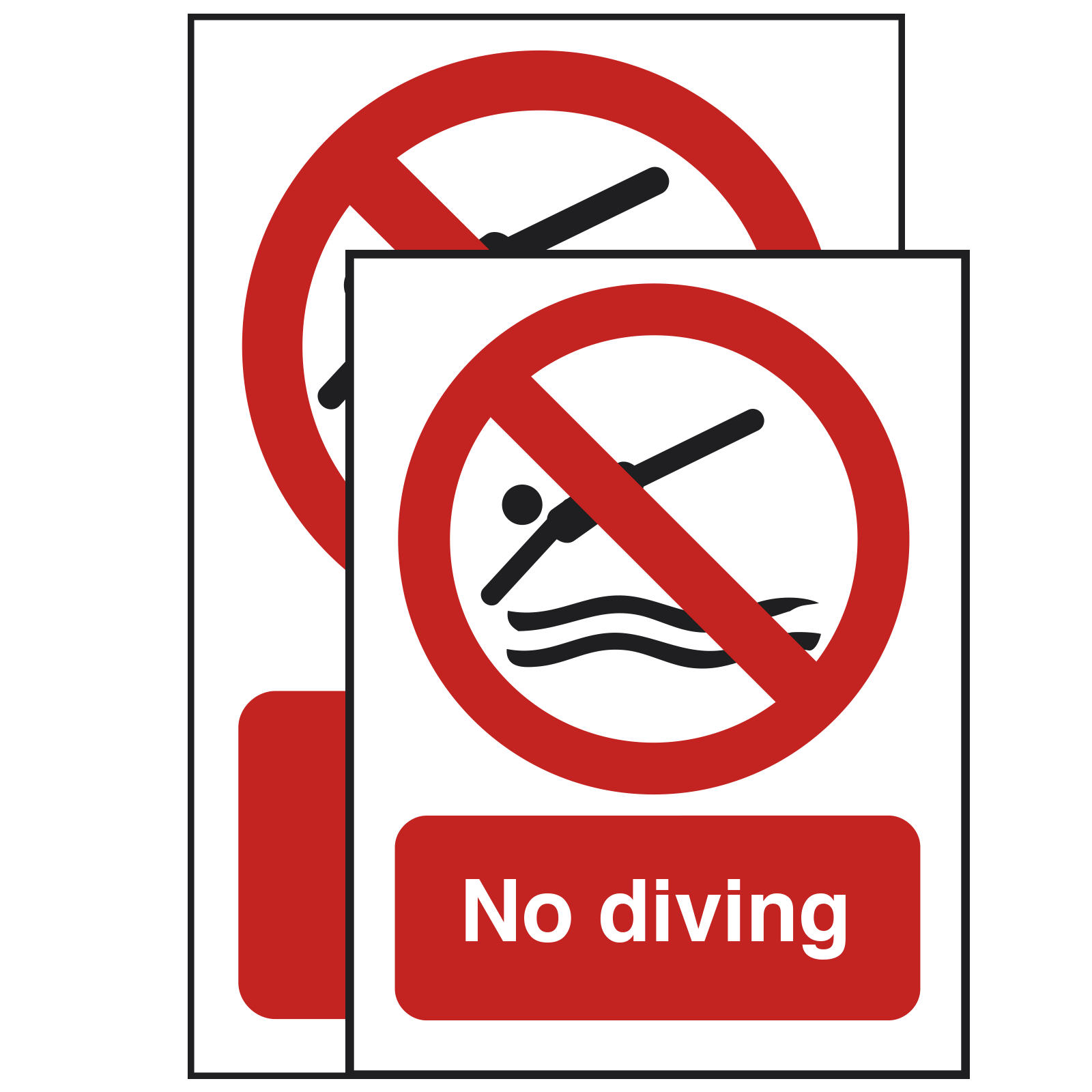 400 x 600mm - No Diving Safety Sign