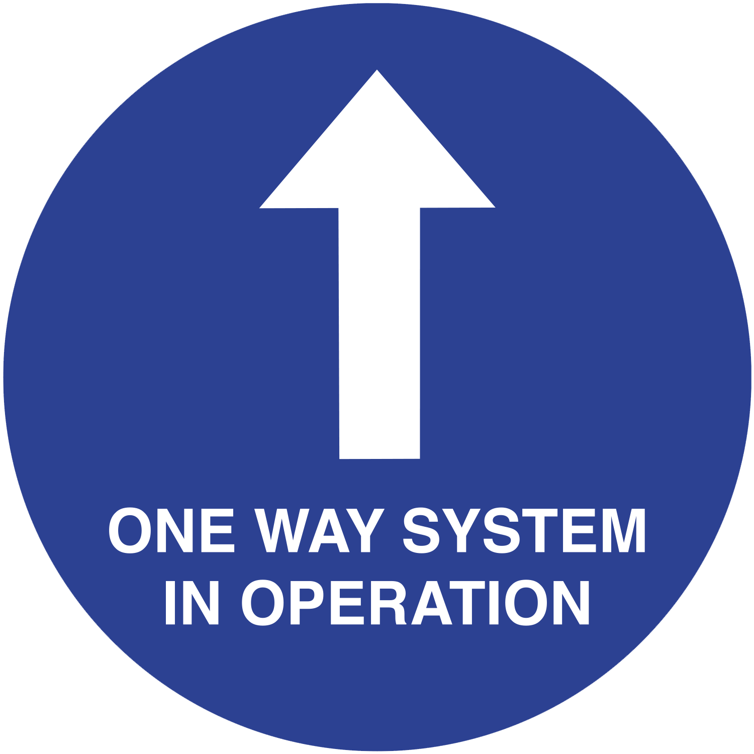 One Way System in operation floor sign
