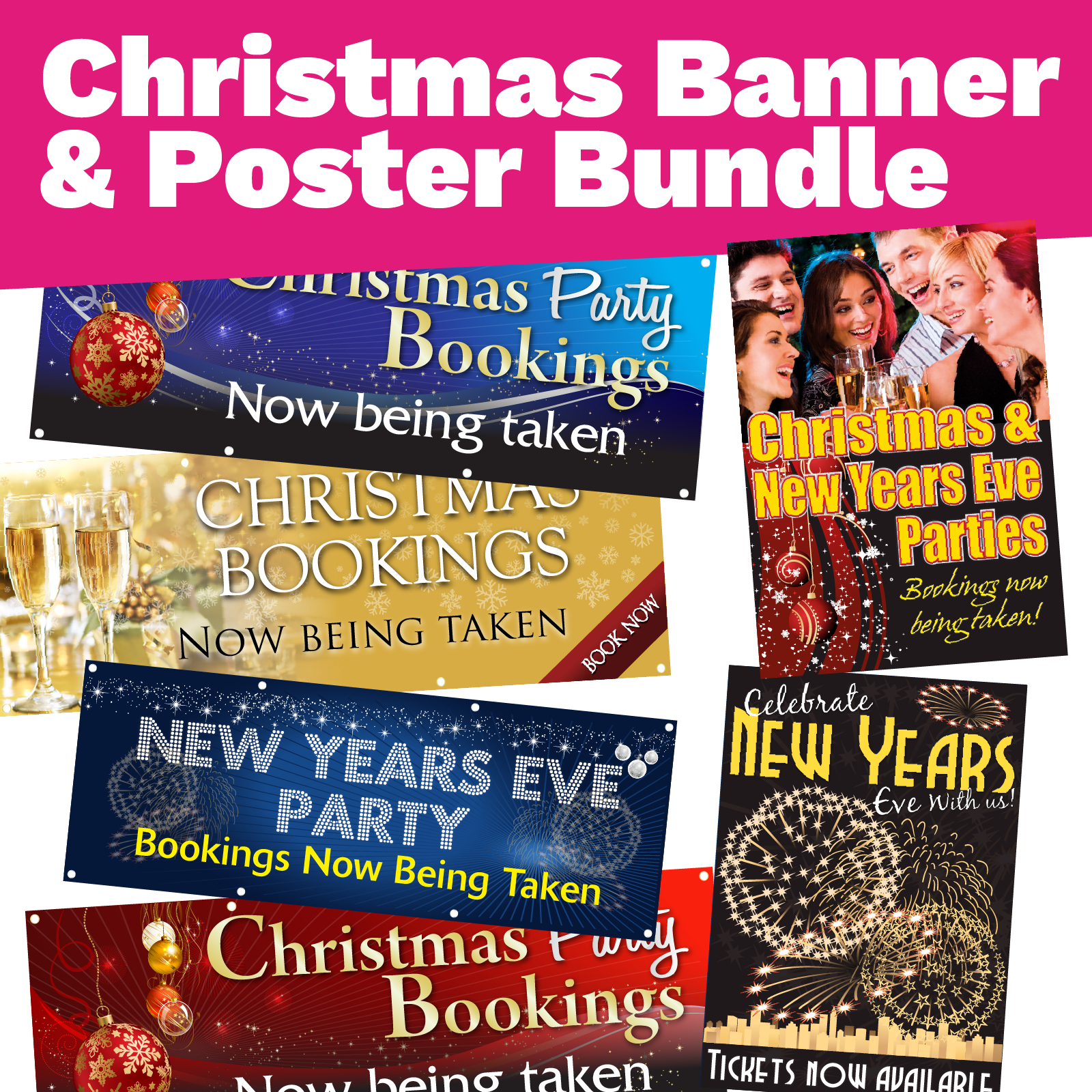 Christmas Banner and Posters Point of Sale Bundle