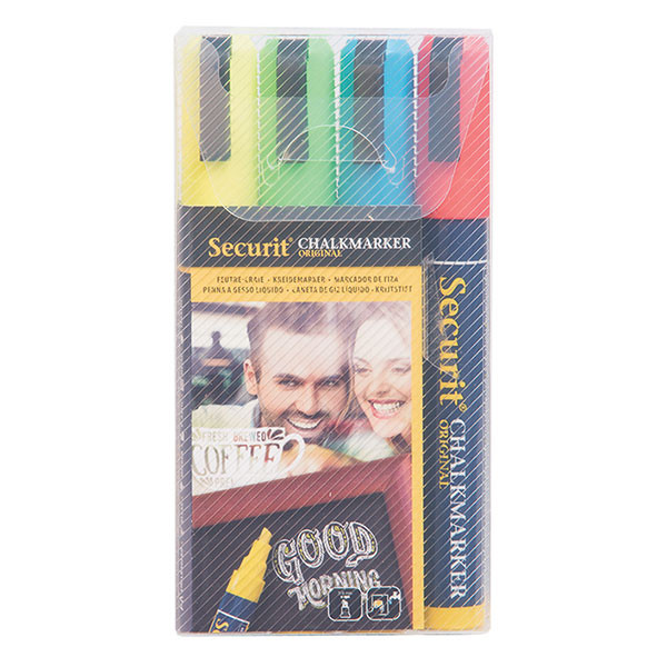 Liquid Chalk Pens - Pack of 4 Bright Colours – Size Medium 2-6 mm Nib