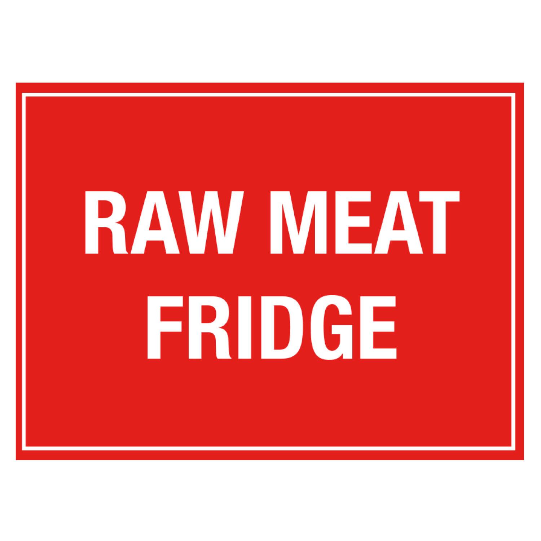 Raw Meat Fridge Storage Sign
