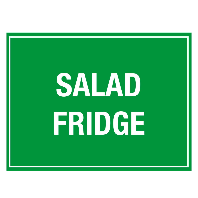 Salad Fridge Storage Sign