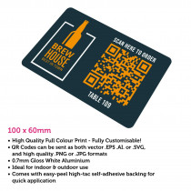 QR Code Full Colour Table Number 100 x 60mm