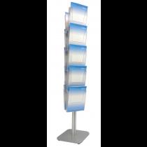 10x A4 Diamond Brochure Island Display Stand