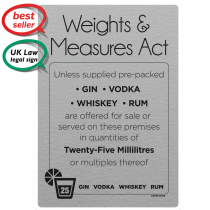 25ml Weights & Measures Act