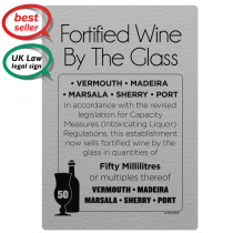 50ml Fortified Wine By The Glass - Weights & Measures Act 2011