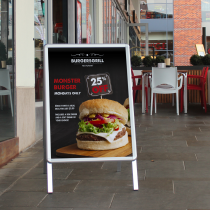 Snapframe A Board Poster Pavement Signs