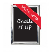A3 size Polished Silver Snapframe with Chalkboard insert - While stocks last!!