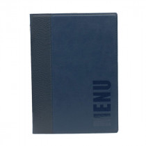 Trendy Blue Leather Style A5 Restaurant Menu Holder