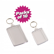 Multi-Purpose Clear Acrylic Photo Keyrings