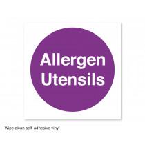 Allergen Utensils Sticker to Aid with Allergy Awareness & Food Preparation