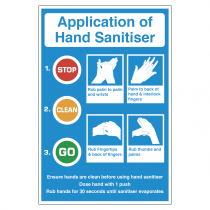 Application of Hand Sanitiser vinyl sticker