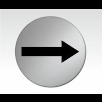 Arrow Symbol Satin Silver Door Disc