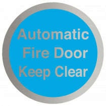 Automatic Fire Door Keep Clear Stainless Steel Disc
