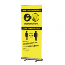 Help Stop the spread / keep your distance social distancing roller banner