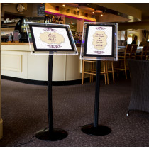 LED Menu Display Stands / LED Poster Display Stands
