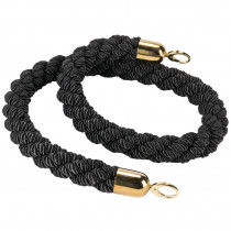 Black Rope Barrier with Gold Ends