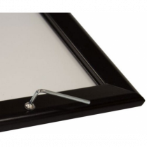 Black 32mm Lockable Poster Display Snap Frame