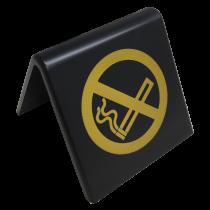 No Smoking Symbol table tent Notice. (Gold / Black)