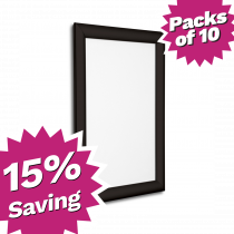 Pack of 10 - A4 & A3 Black Snap Poster Frames - Saving of 15%