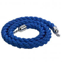 Blue Rope Barrier with Chrome Ends