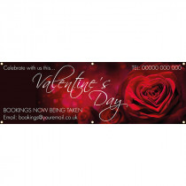 Valentines Day Celebrate with us PVC Banner