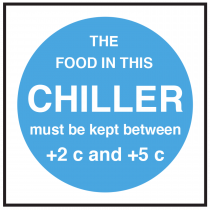 Chiller Food Display Temperature Sign