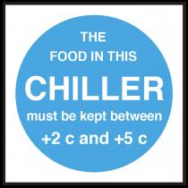 Chiller Food Display Temperature Sign