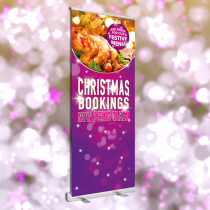 Christmas Bookings now being Taken roller banner. 850x2000mm