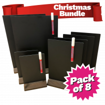Bar Display Chalkboard Table Talkers - Multi Pack of 8