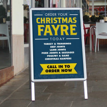 Order your Christmas Fayre today Butchers Anti-tear Waterproof Poster