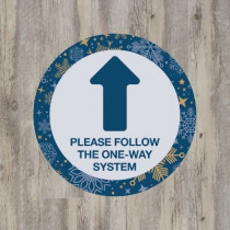 Christmas one way system arrow floor graphic