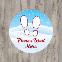 Christmas Theme Please Wait Here Floor Graphic